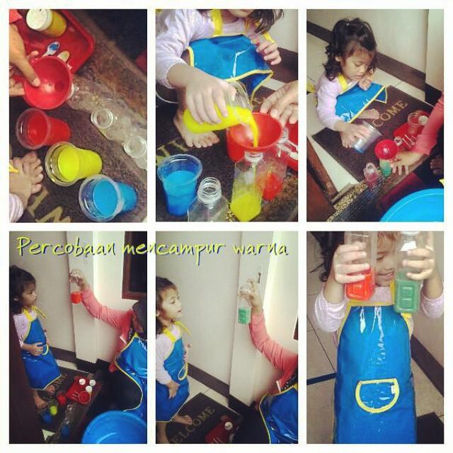 Mencampur warna adalah salah satu kegiatan yang membuat anak2 riang.. Belajar itu adalah : dimana sa...